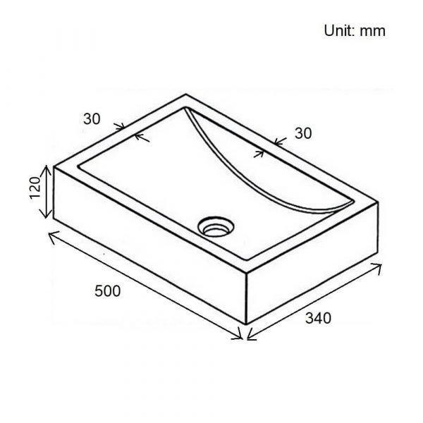 stone rectangular sink-4