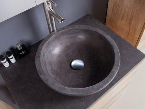 gray stone vessel sink-1
