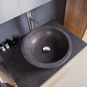 gray stone vessel sink-1