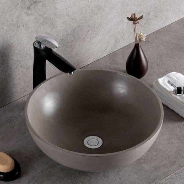 concrete bowl sink-1