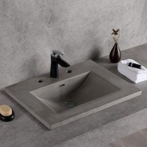 concrete undermount sink-1