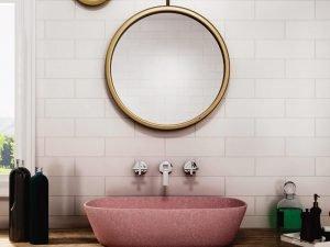 pink terrazzo sink-1