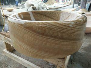 round stone vessel sink (3)
