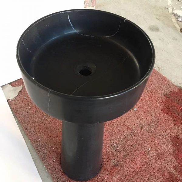 black marble pedestal sink (3)