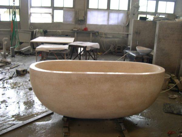 marble freestanding bath