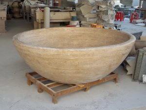 natural stone freestanding bath