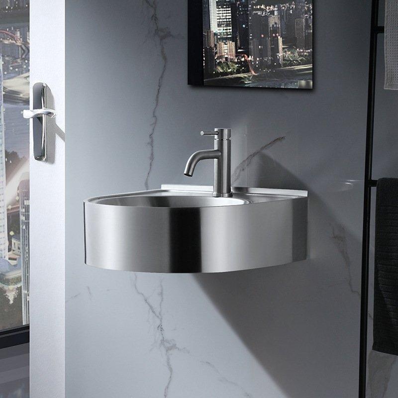 steel wall hung sink