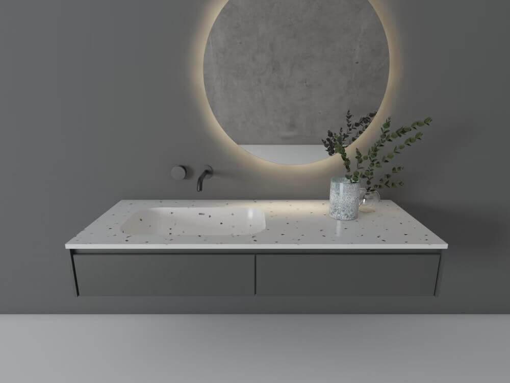 terrazzo countertop sink (1)