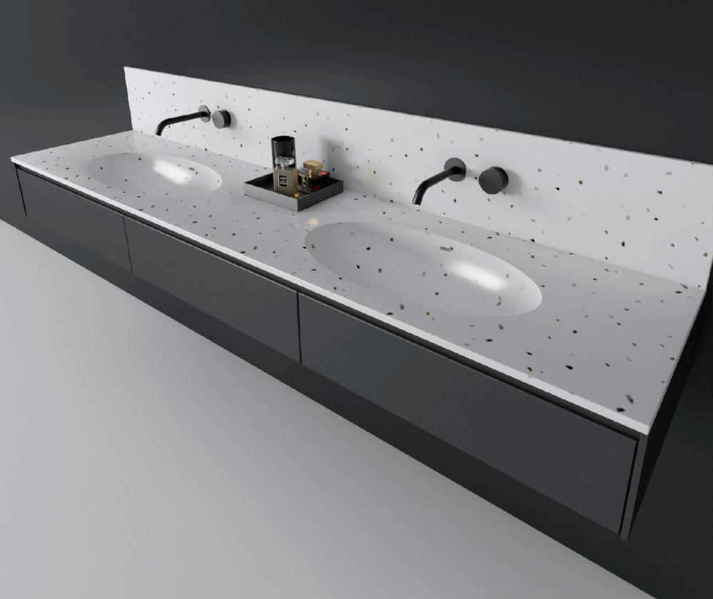 terrazzo countertop sink (2)