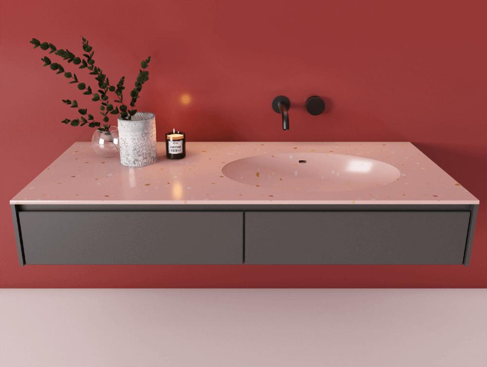 terrazzo countertop sink (3)